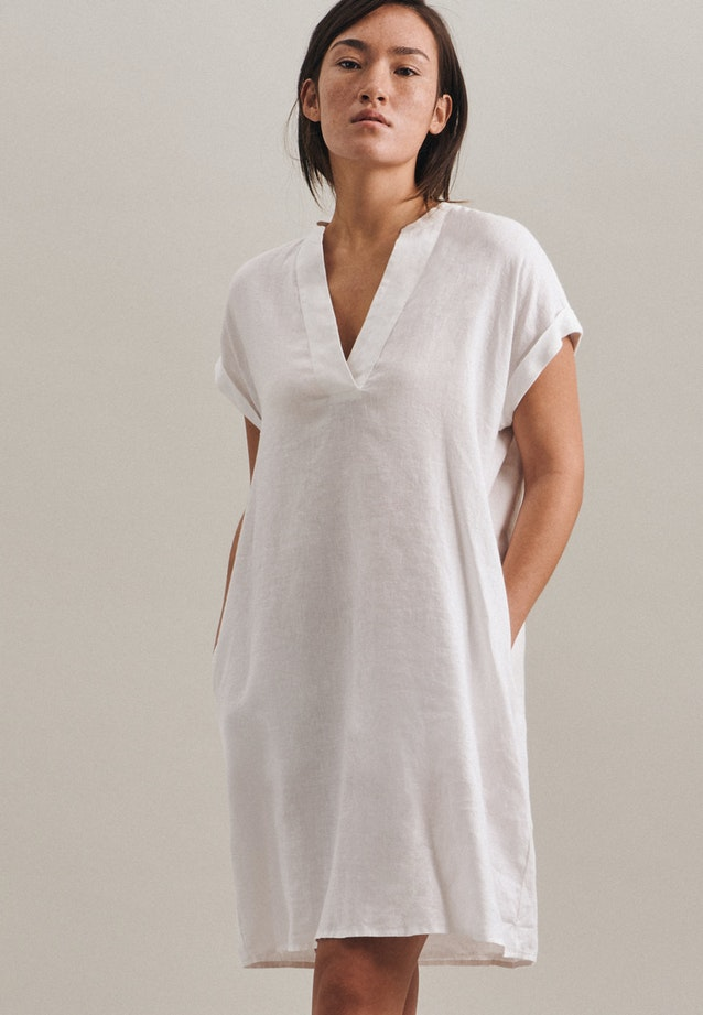 Leinen Midi Dress made of 100% Linen in White |  Seidensticker Onlineshop