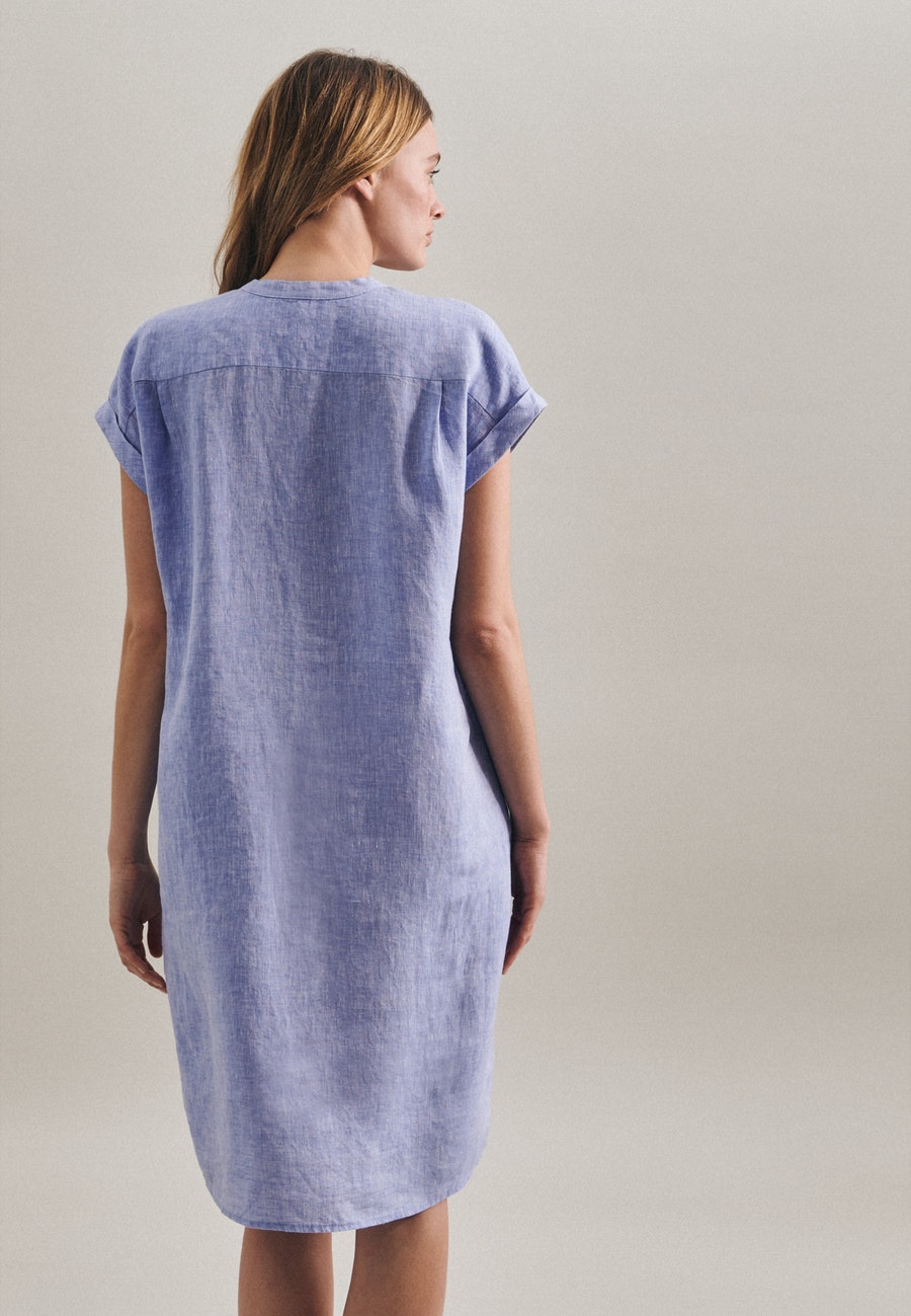 Leinen Midi Kleid aus 100% Leinen in Dunkelblau |  Seidensticker Onlineshop