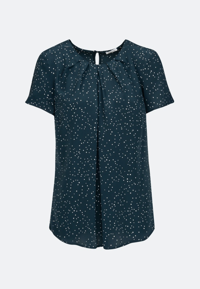 Short sleeve Popeline Shirt Blouse made of 100% Viscose in Dark blue |  Seidensticker Onlineshop