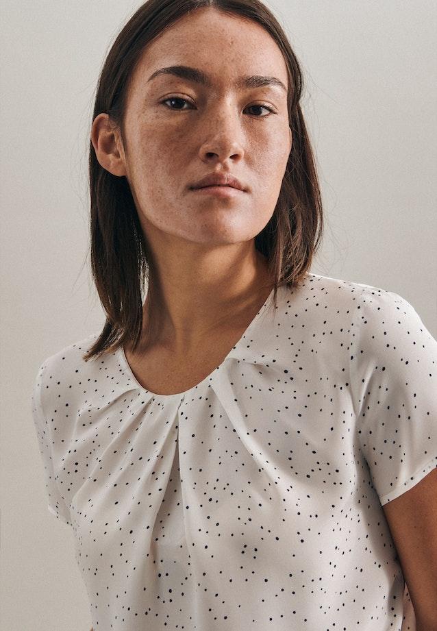 Short sleeve Popeline Shirt Blouse made of 100% Viscose in White |  Seidensticker Onlineshop