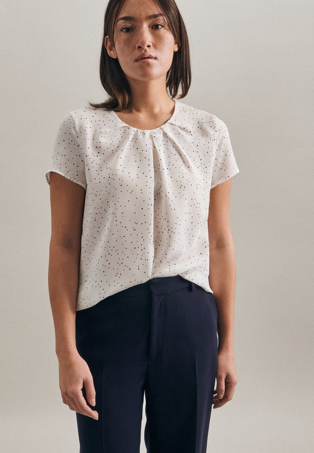 Short sleeve Popeline Shirt Blouse made of 100% Viscose in White |  Seidensticker Onlineshop