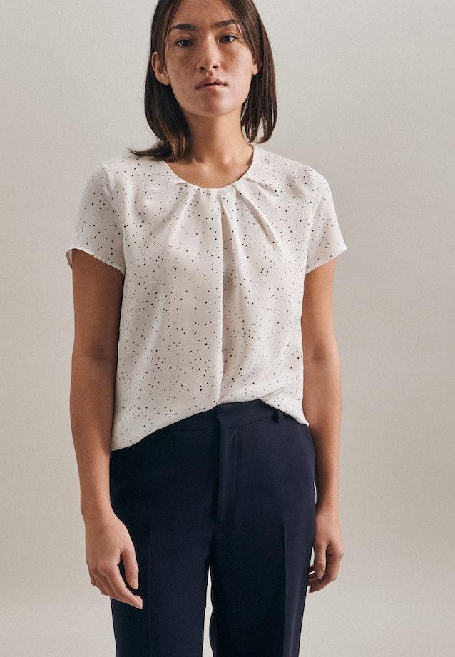 Kurzarm Popeline Shirtbluse aus 100% Viskose in Weiß |  Seidensticker Onlineshop