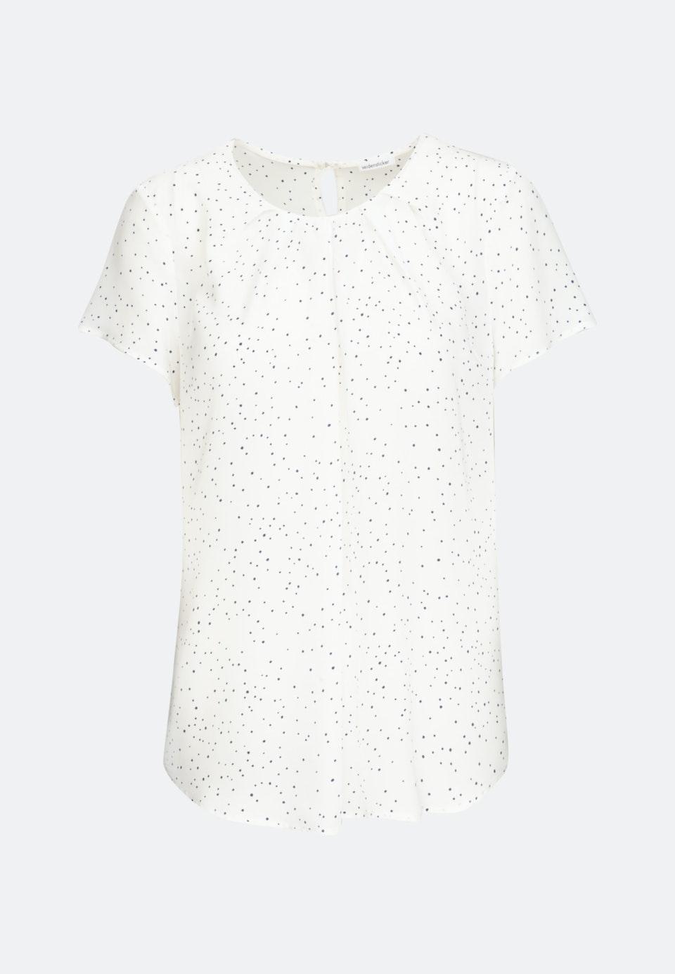 Short sleeve Poplin Shirt Blouse made of 100% Viscose in White |  Seidensticker Onlineshop