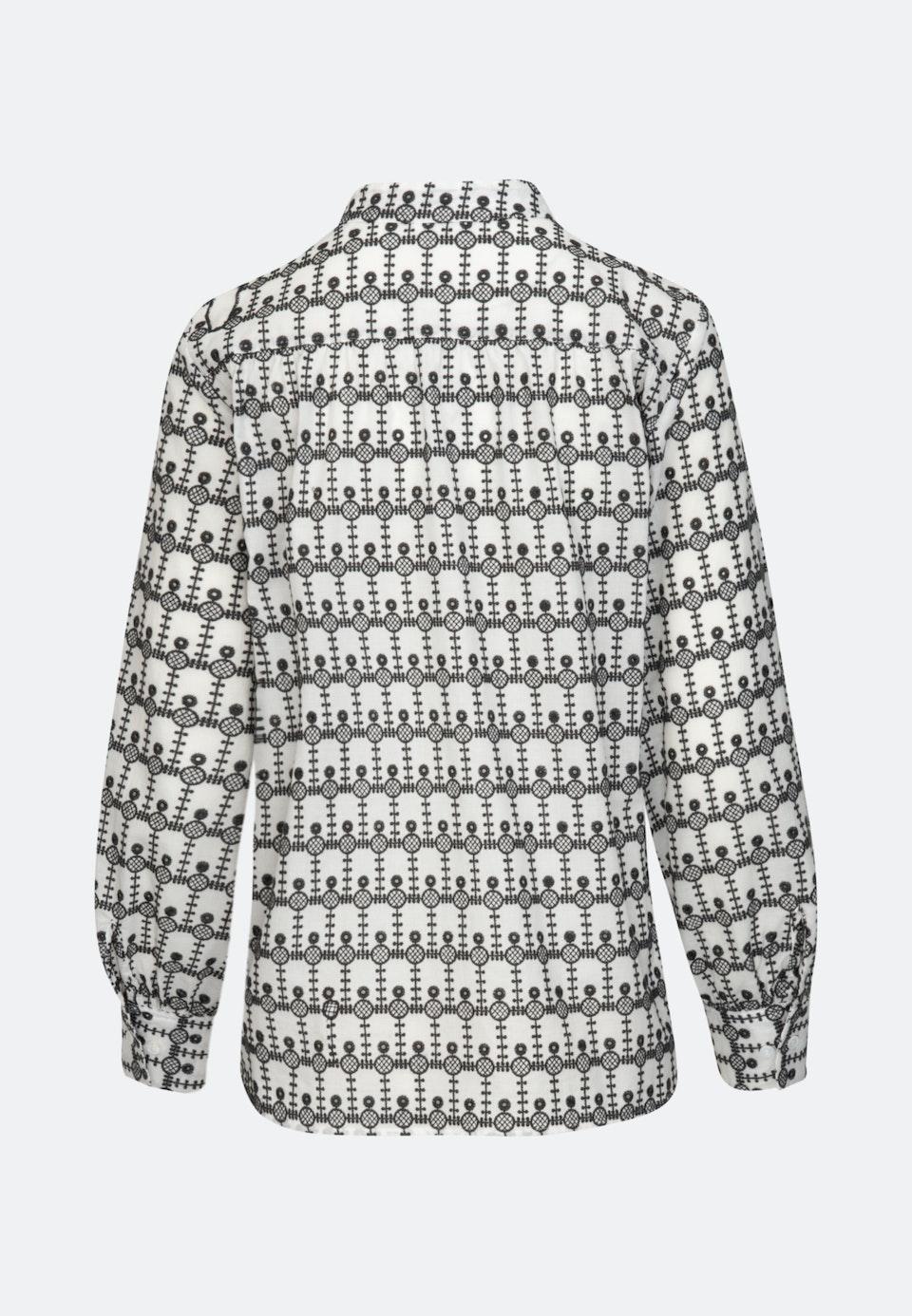 Voile Stehkragenbluse aus 100% Baumwolle in Grau |  Seidensticker Onlineshop