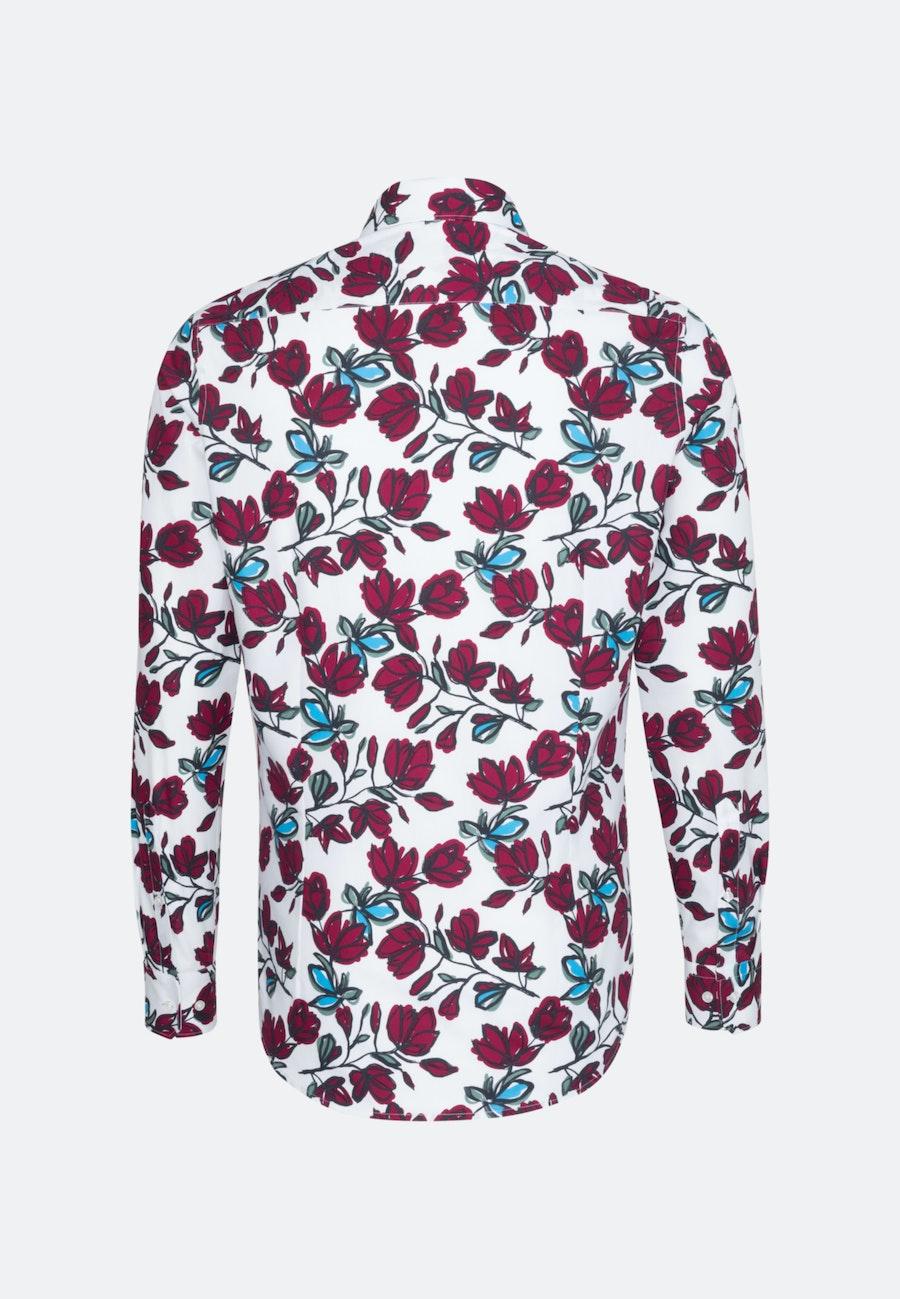 Bügelleichtes Popeline Business Hemd in Slim mit Kentkragen in Rot |  Seidensticker Onlineshop