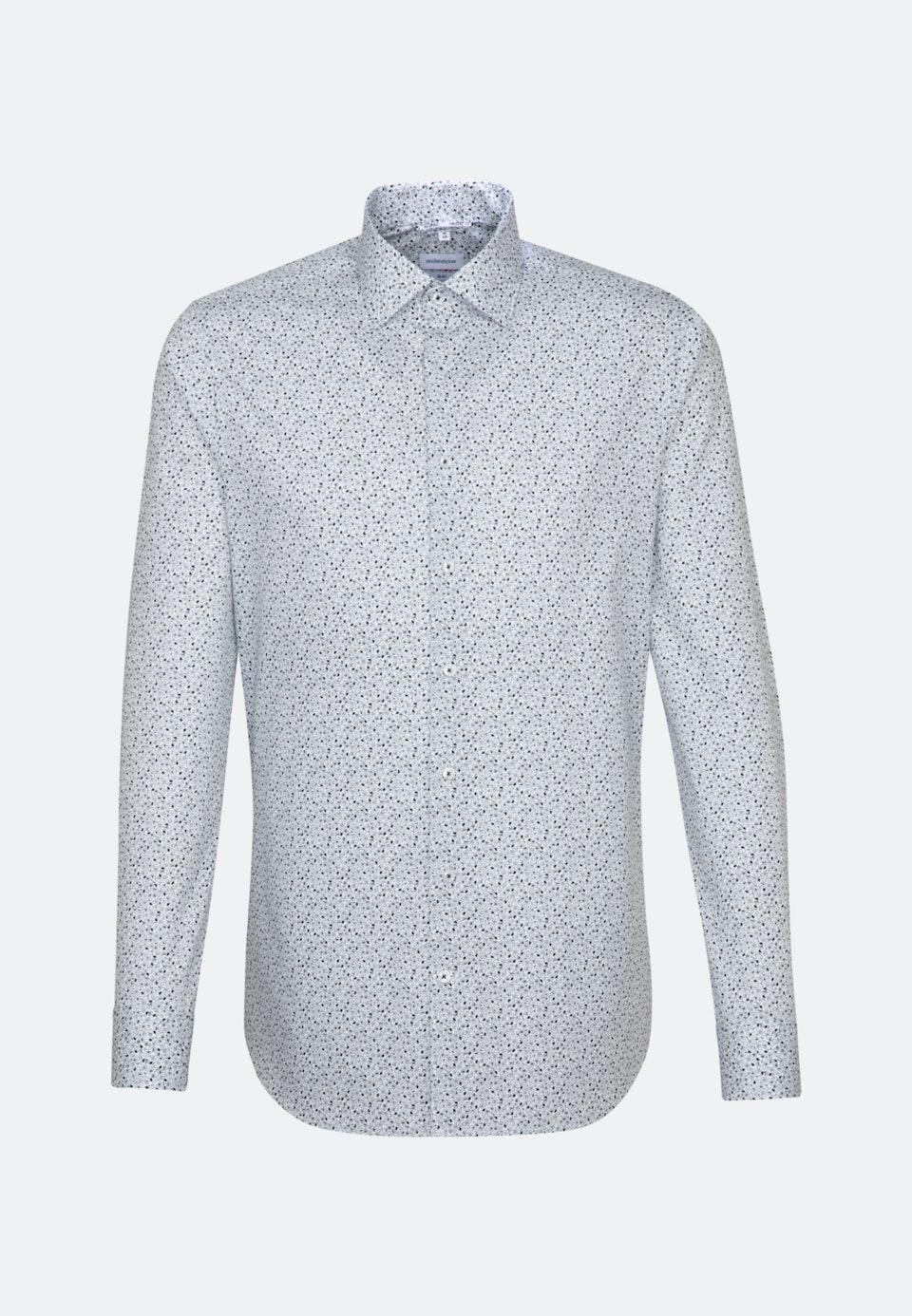 Easy-iron Popeline Business Shirt in Slim with Kent-Collar in Dark blue |  Seidensticker Onlineshop