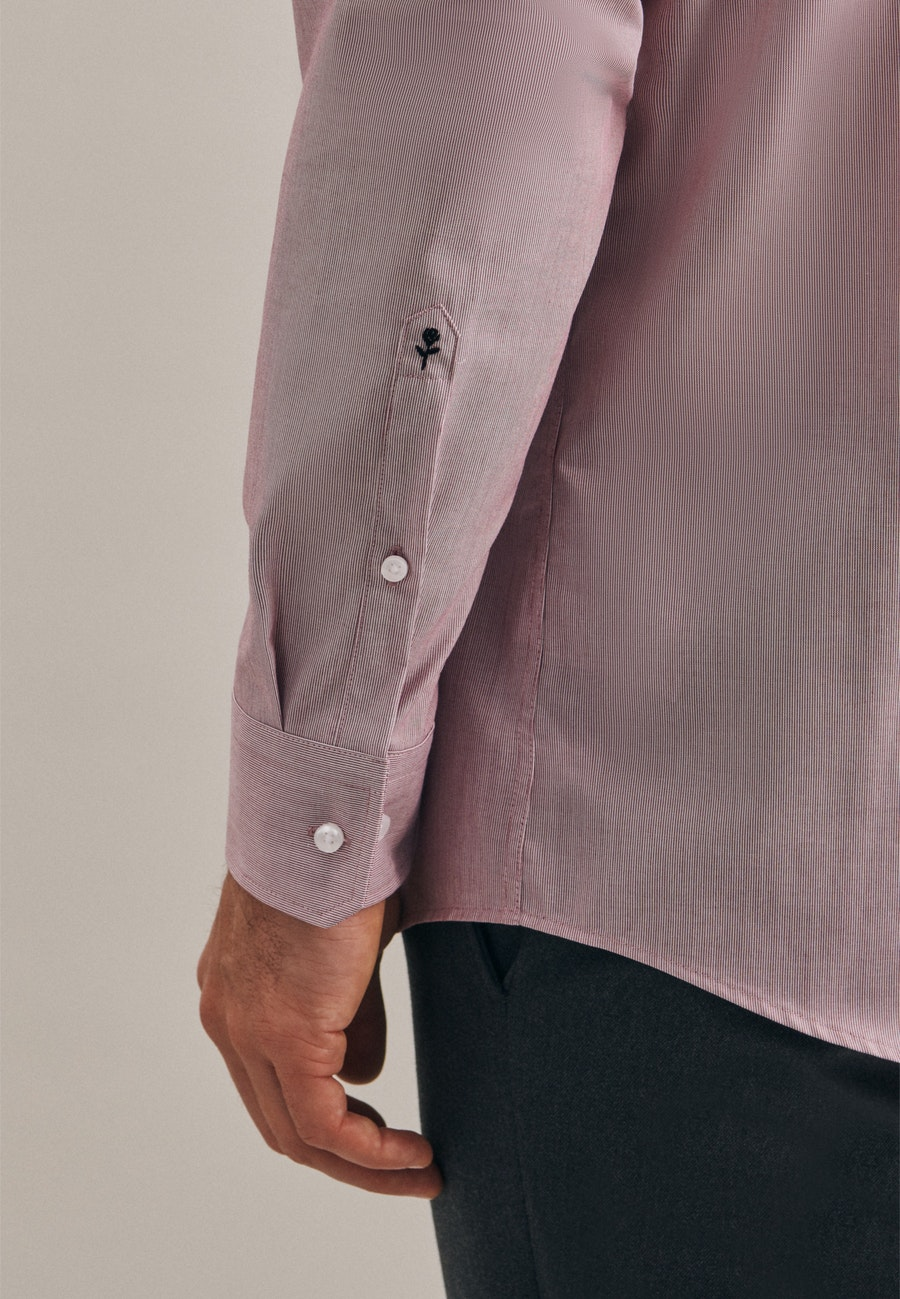 Non-iron Mille Rayé Business Shirt in Regular with Kent-Collar in Red |  Seidensticker Onlineshop