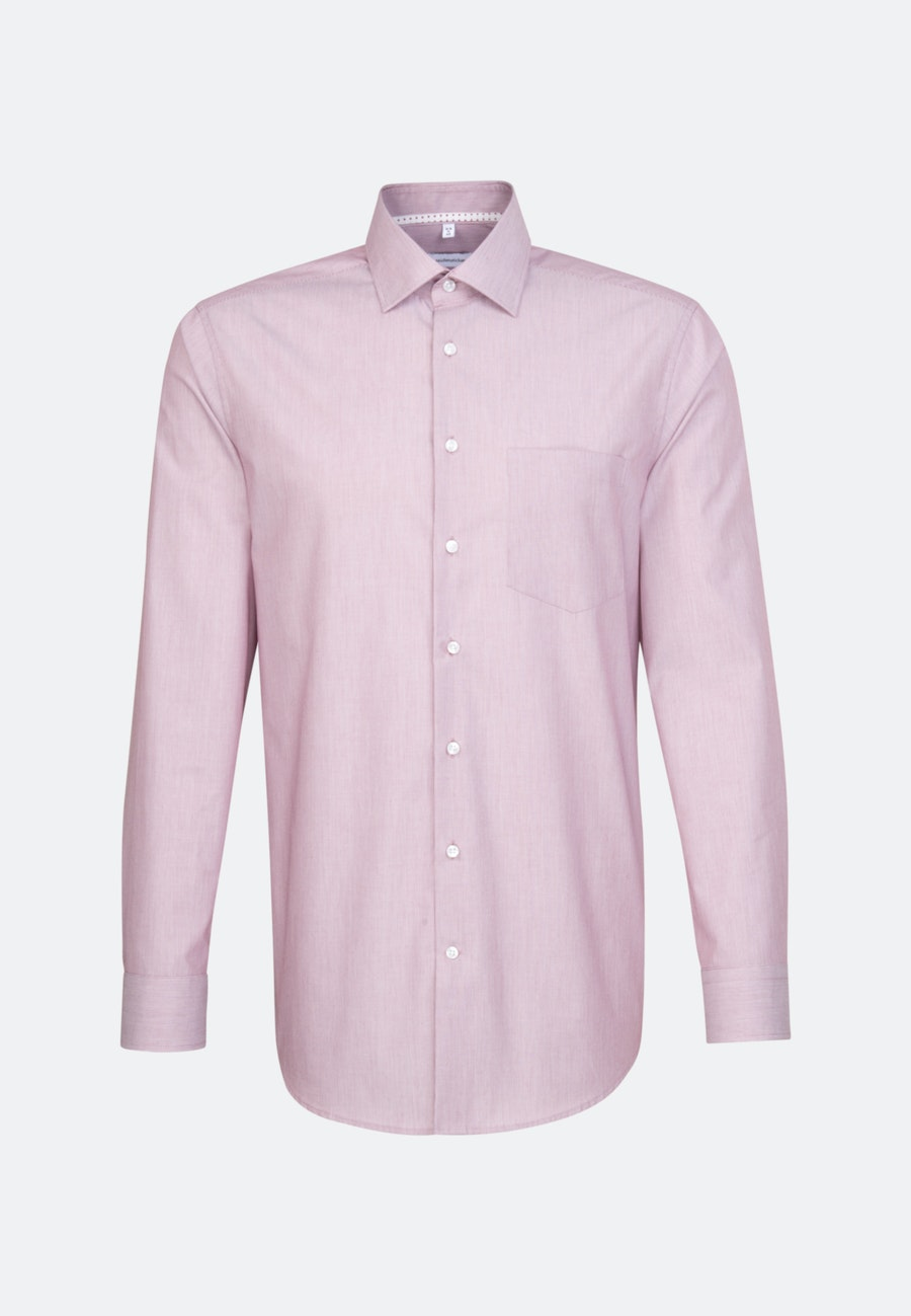 Bügelfreies Mille Rayé Business Hemd in Regular mit Kentkragen in Rot |  Seidensticker Onlineshop