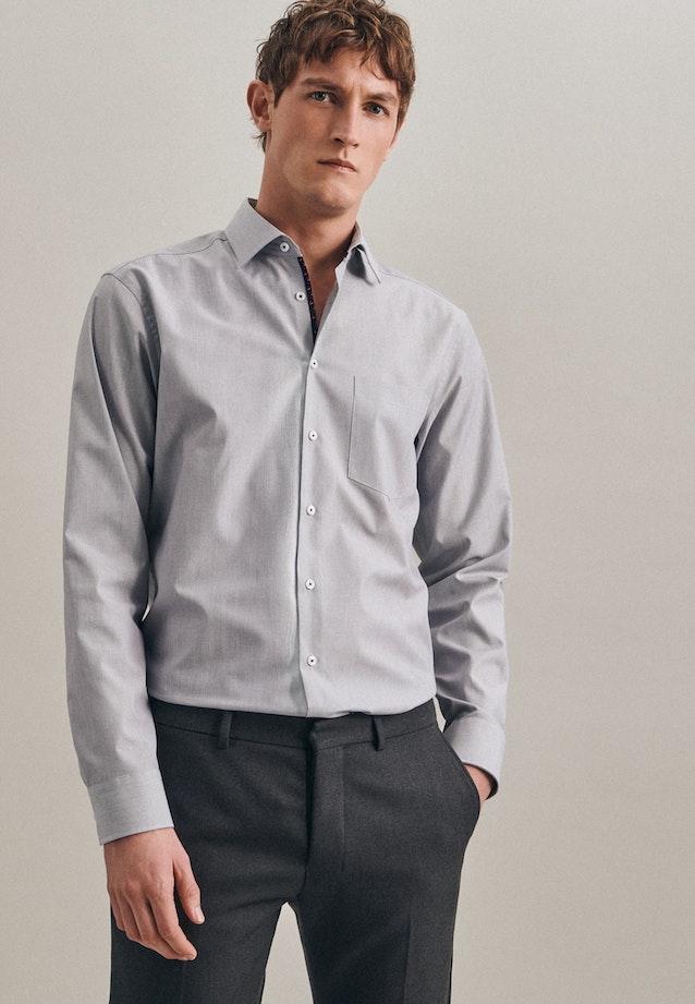 Non-iron Mille Rayé Business Shirt in Regular with Kent-Collar in Dark blue    Seidensticker Onlineshop