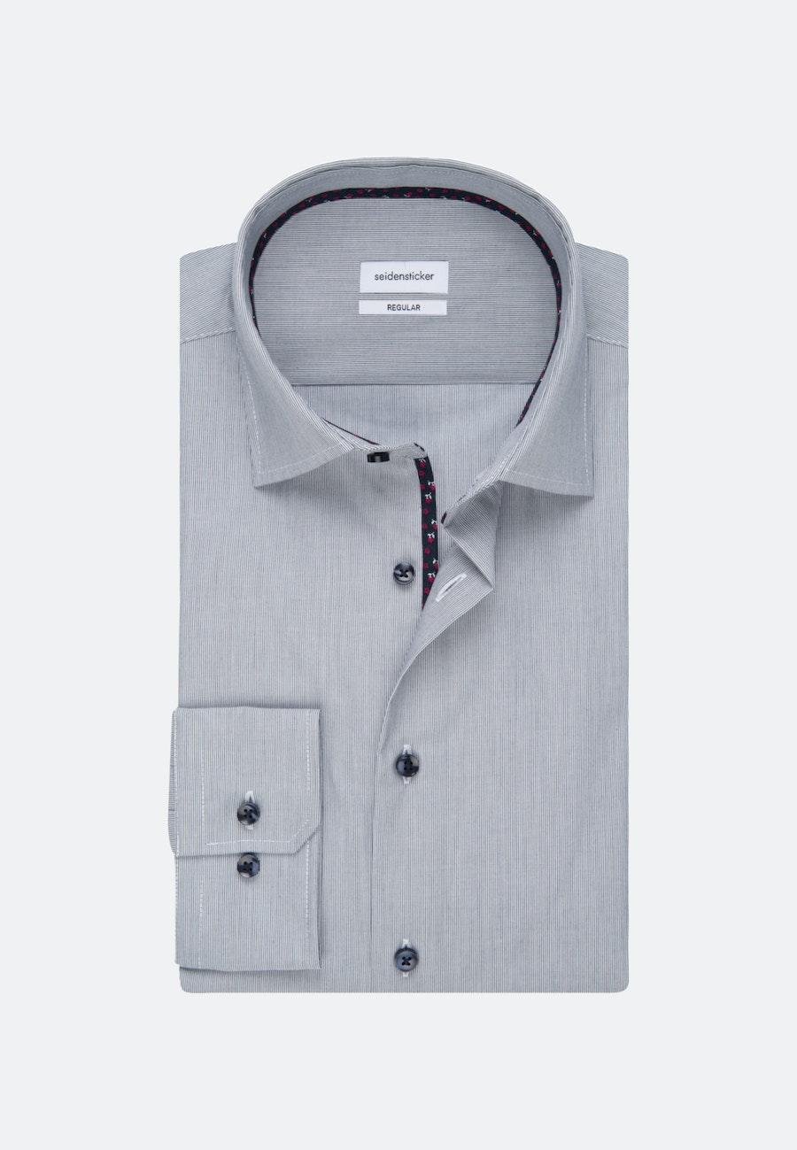 Non-iron Mille Rayé Business Shirt in Regular with Kent-Collar in Dark blue |  Seidensticker Onlineshop