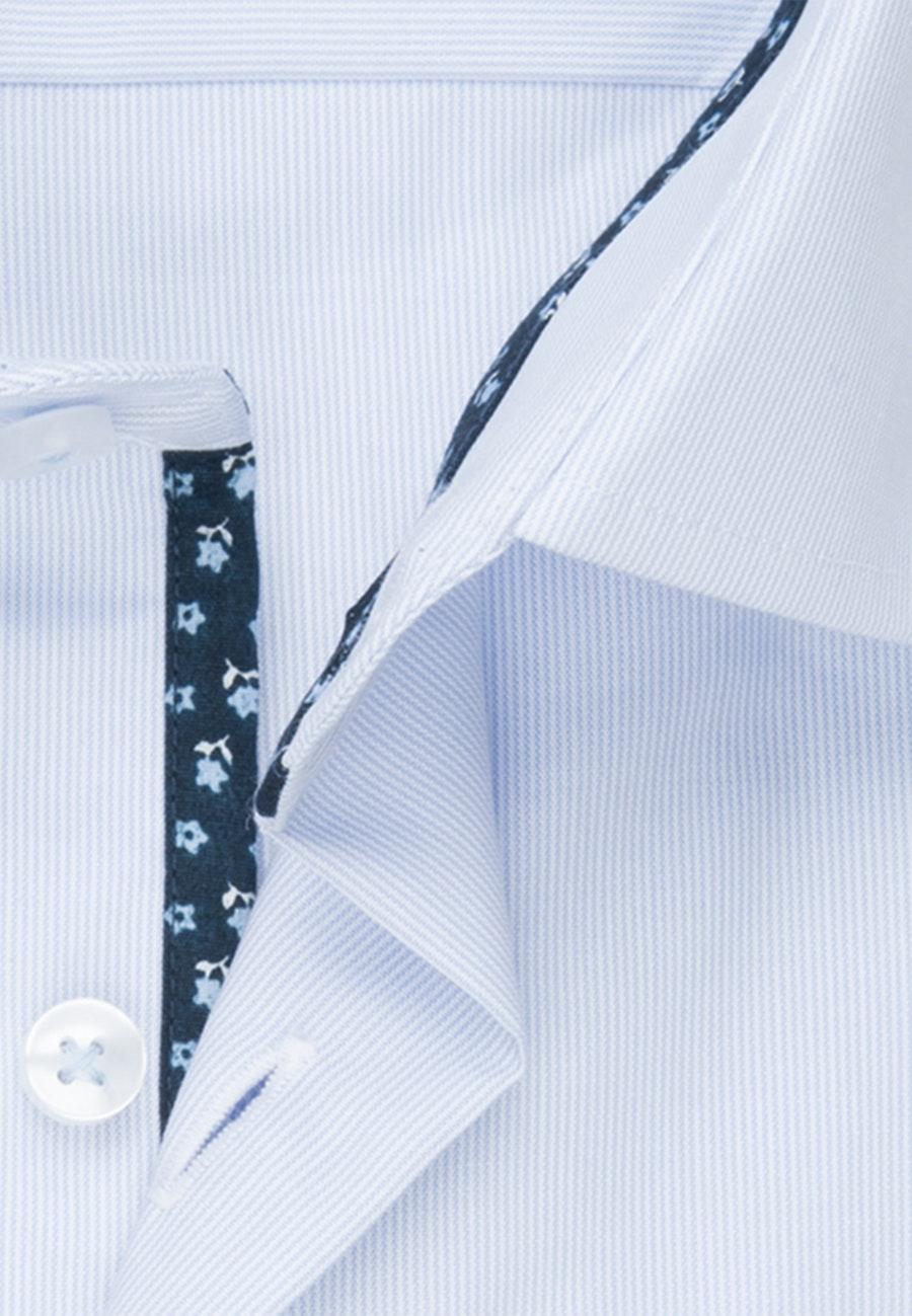 Bügelfreies Mille Rayé Business Hemd in Regular mit Kentkragen in Hellblau |  Seidensticker Onlineshop