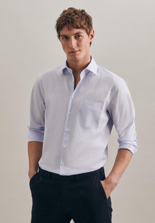 Non-iron Mille Rayé Business Shirt in Regular with Kent-Collar in Light blue |  Seidensticker Onlineshop