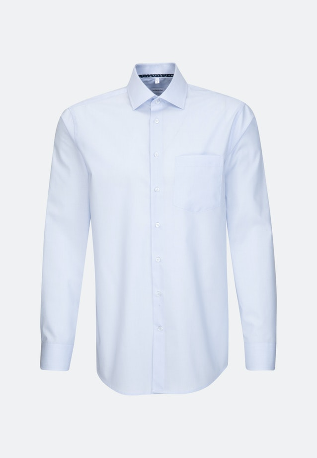 Non-iron Mille Rayé Business Shirt in Regular with Kent-Collar in Light blue |  Seidensticker Onlineshop