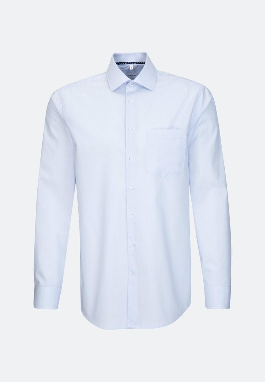 Non-iron Mille Rayé Business Shirt in Regular with Kent-Collar in Light blue    Seidensticker Onlineshop