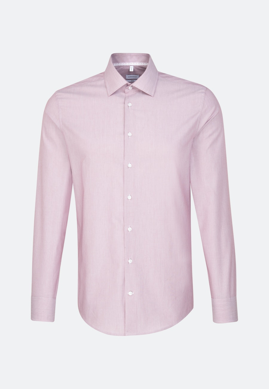 Non-iron Mille Rayé Business Shirt in Slim with Kent-Collar in Red |  Seidensticker Onlineshop