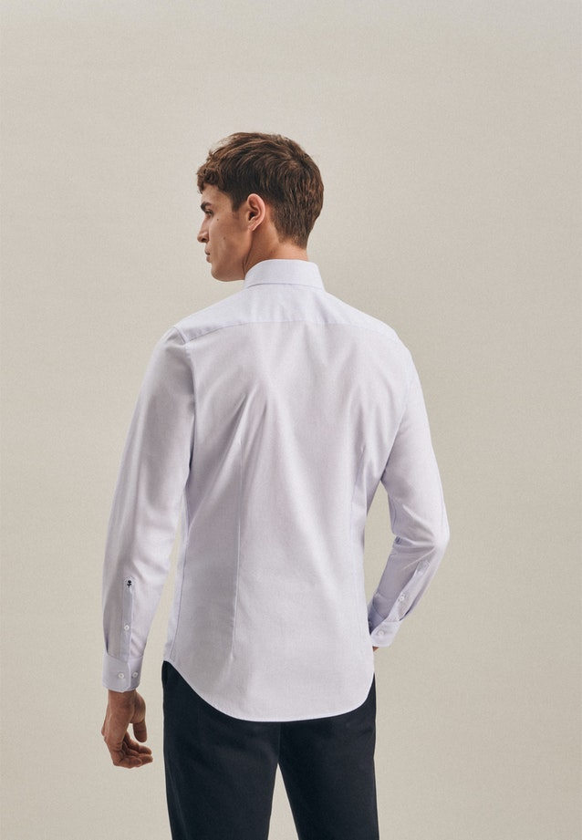 Non-iron Mille Rayé Business Shirt in Slim with Kent-Collar in Light blue |  Seidensticker Onlineshop