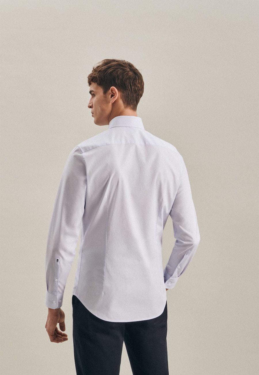 Bügelfreies Mille Rayé Business Hemd in Slim mit Kentkragen in Hellblau |  Seidensticker Onlineshop