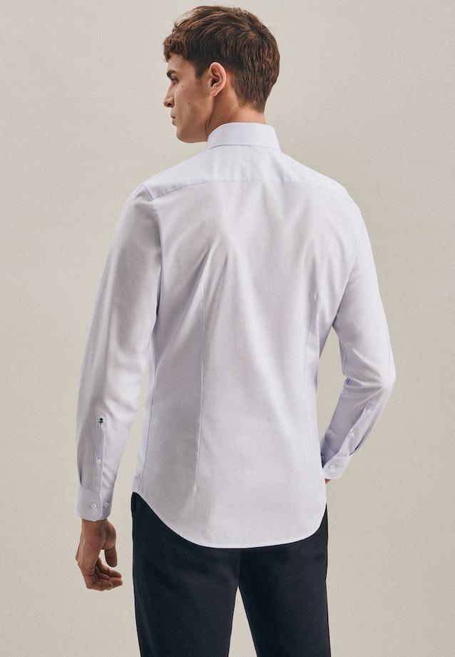 Bügelfreies Mille Rayé Business Hemd in Slim mit Kentkragen in Hellblau    Seidensticker Onlineshop