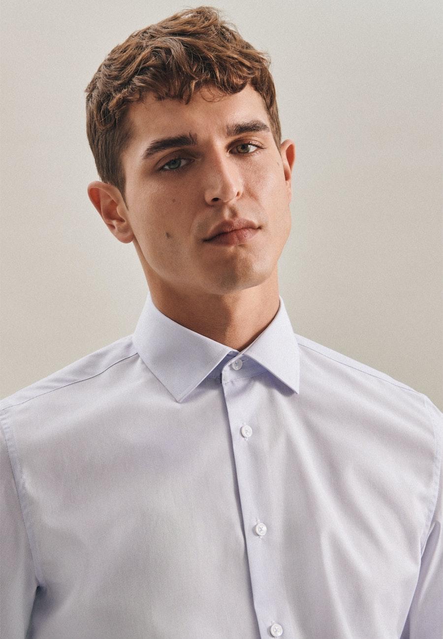Non-iron Mille Rayé Business Shirt in Slim with Kent-Collar in Light blue |  Seidensticker Onlineshop