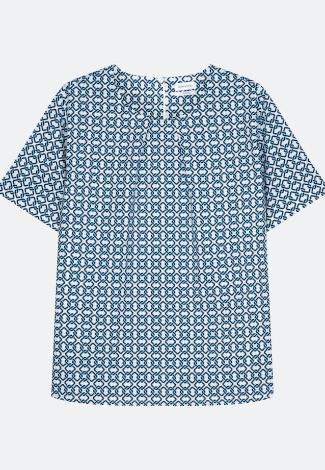 Kurzarm Popeline Shirtbluse aus Baumwollmischung in Ecru |  Seidensticker Onlineshop
