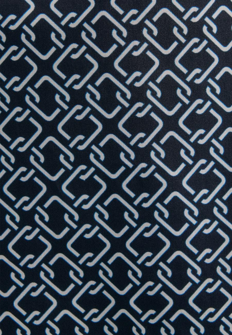 Short sleeve Popeline Shirt Blouse made of cotton blend in Dark blue |  Seidensticker Onlineshop