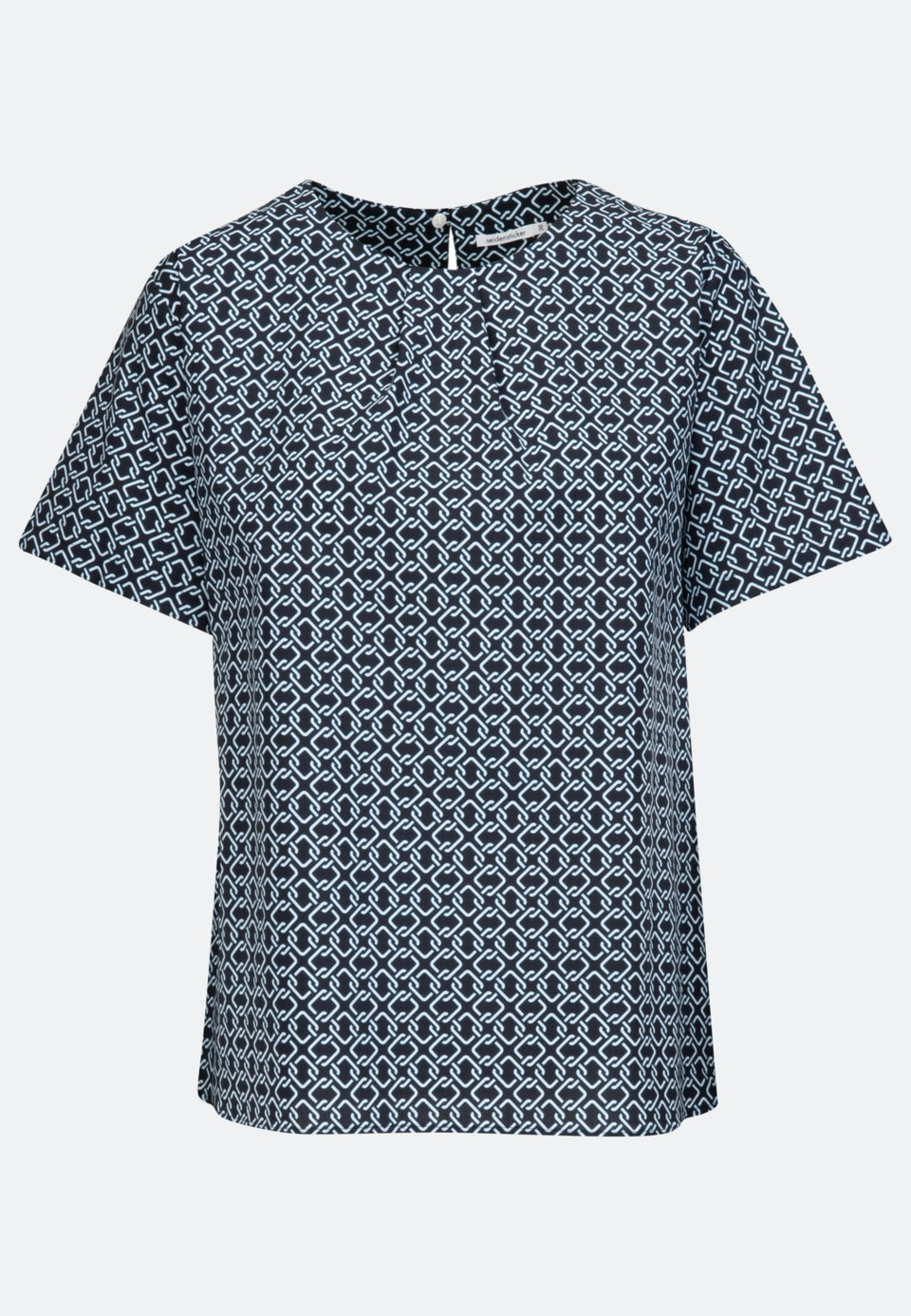 Kurzarm Popeline Shirtbluse aus Baumwollmischung in Dunkelblau |  Seidensticker Onlineshop