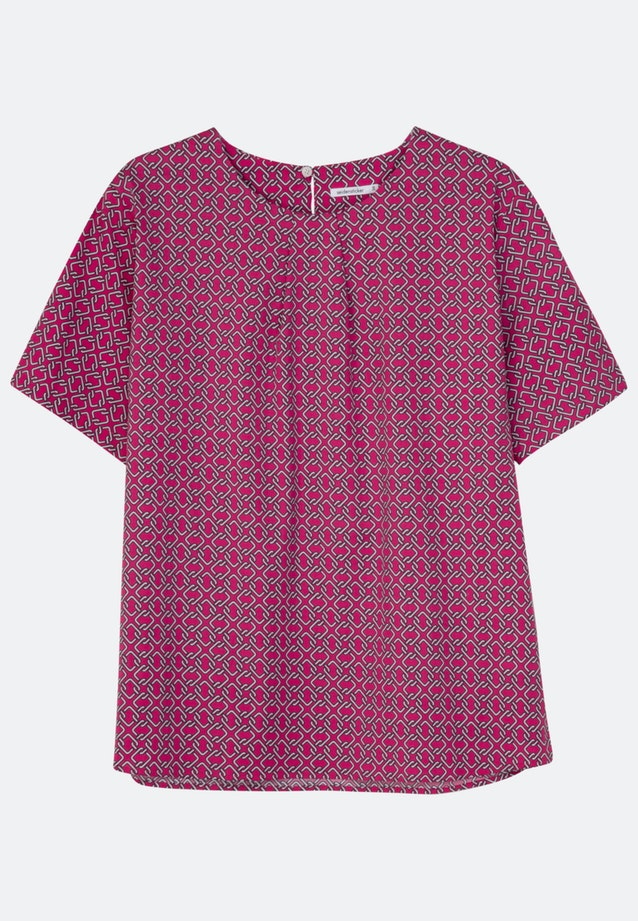Short sleeve Popeline Shirt Blouse made of cotton blend in Pink |  Seidensticker Onlineshop