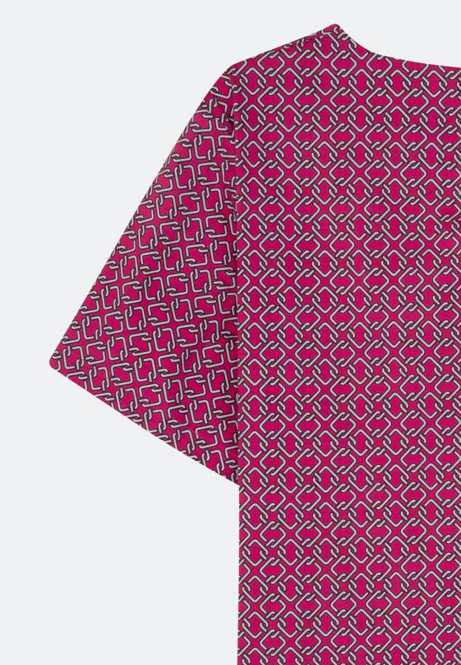 Short sleeve Poplin Shirt Blouse made of cotton blend in Pink |  Seidensticker Onlineshop