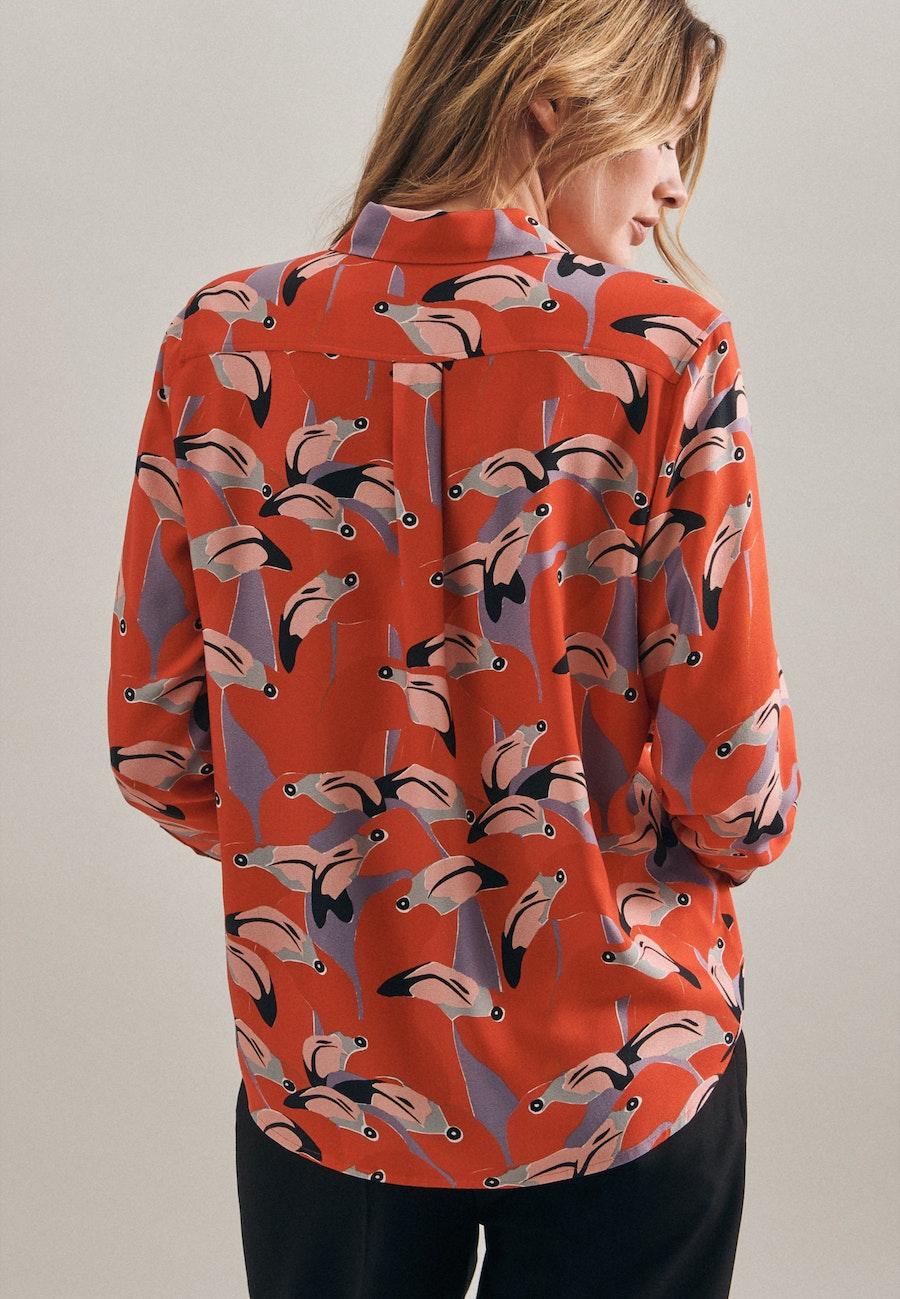 Krepp Hemdbluse aus 100% Viskose in Rot |  Seidensticker Onlineshop