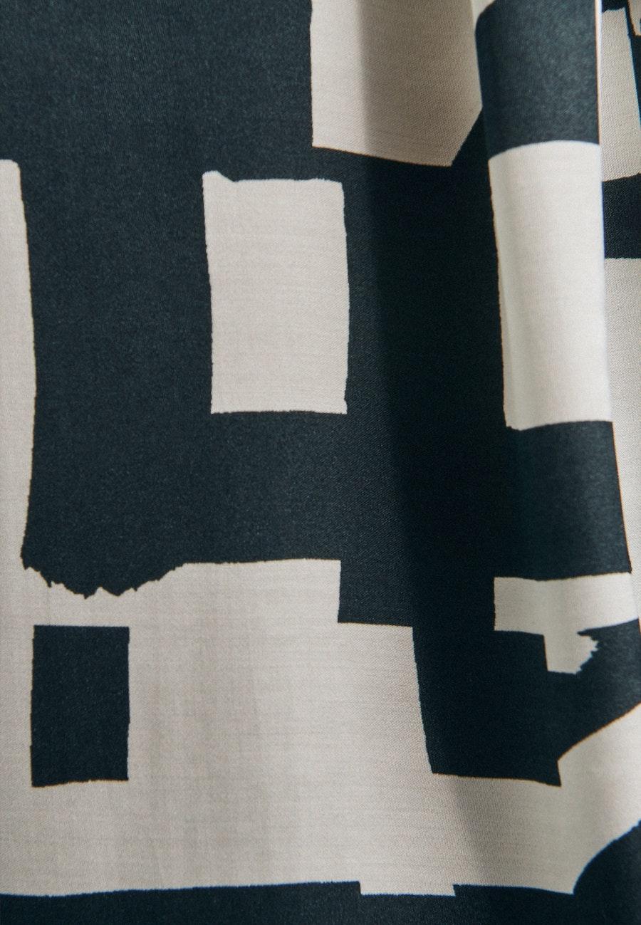3/4 Arm Satin Hemdbluse aus 100% Viskose in Grau |  Seidensticker Onlineshop