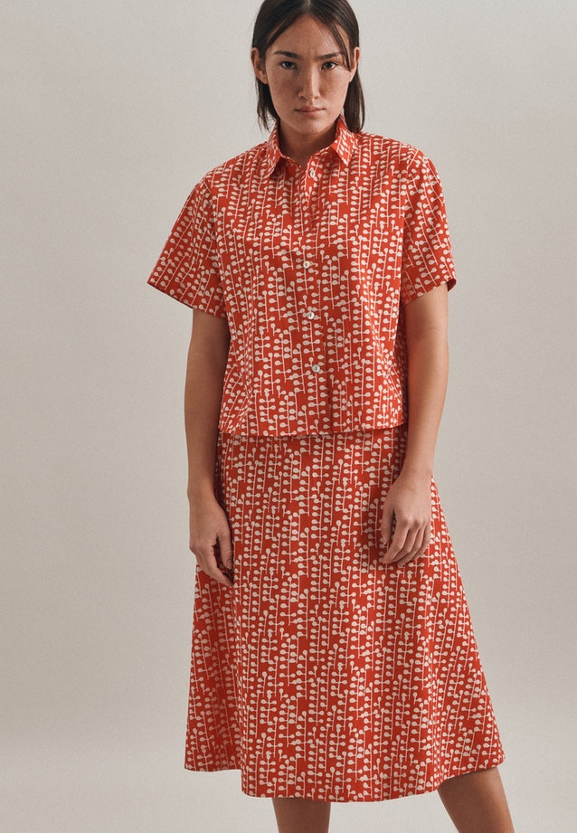 Short sleeve Poplin Shirt Blouse made of 100% Cotton in Red    Seidensticker Onlineshop