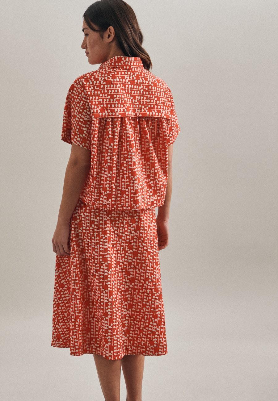Popeline Hemdbluse aus 100% Baumwolle in Rot |  Seidensticker Onlineshop