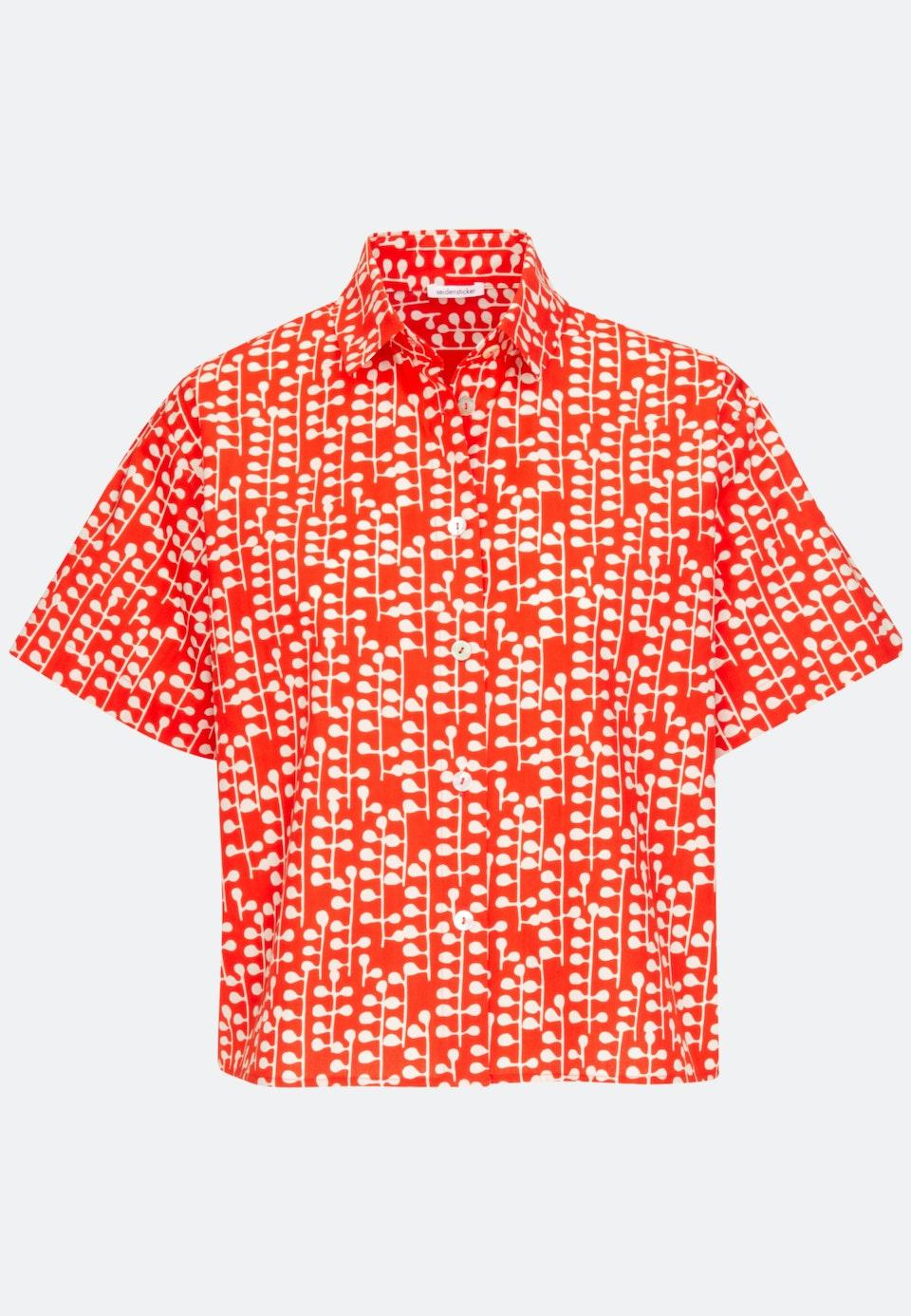 Short sleeve Popeline Shirt Blouse made of 100% Cotton in Red |  Seidensticker Onlineshop