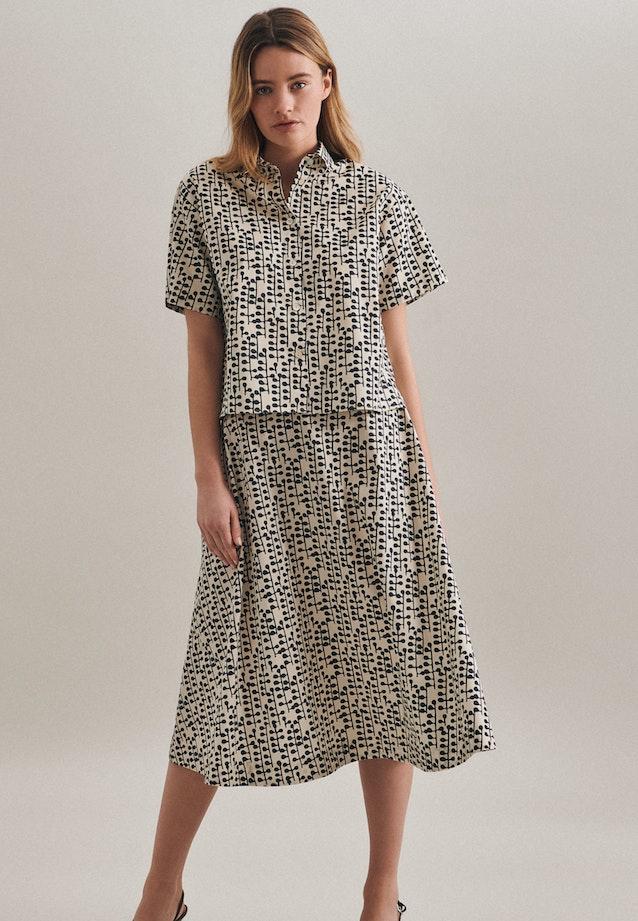 Short sleeve Poplin Shirt Blouse made of 100% Cotton in Grey    Seidensticker Onlineshop