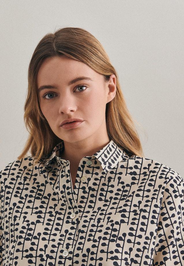 Short sleeve Popeline Shirt Blouse made of 100% Cotton in Grey |  Seidensticker Onlineshop