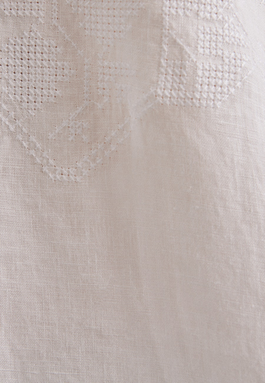 Leinen Stehkragenbluse aus 100% Leinen in Weiß |  Seidensticker Onlineshop