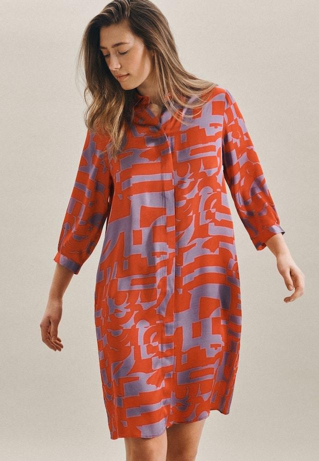 Satin Midi Kleid aus 100% Viskose in Rot |  Seidensticker Onlineshop
