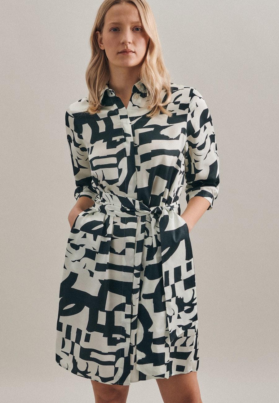 Satin Midi Kleid aus 100% Viskose in Grau |  Seidensticker Onlineshop