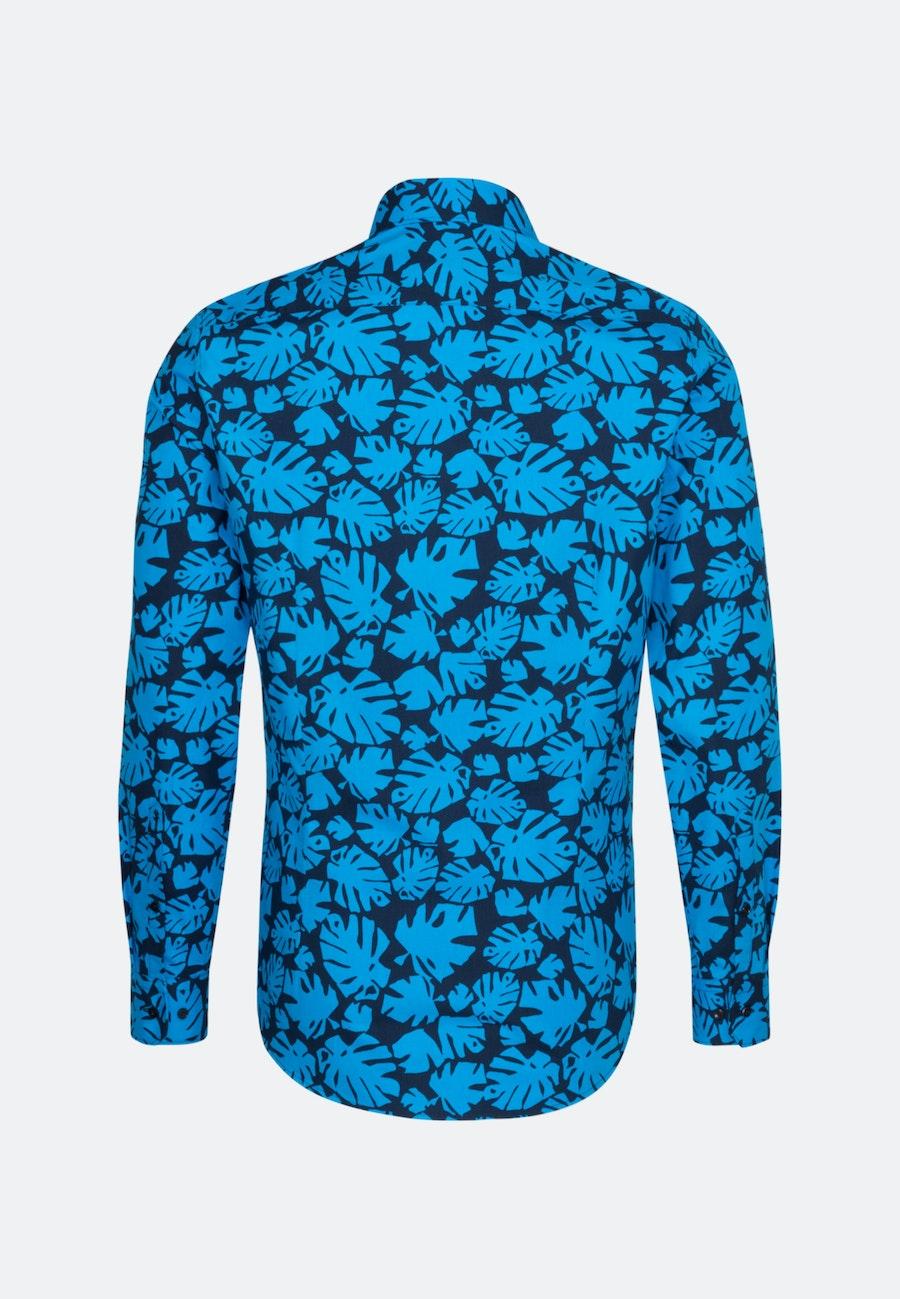 Bügelleichtes Popeline Business Hemd in Slim mit Kentkragen in Türkis/Petrol    Seidensticker Onlineshop