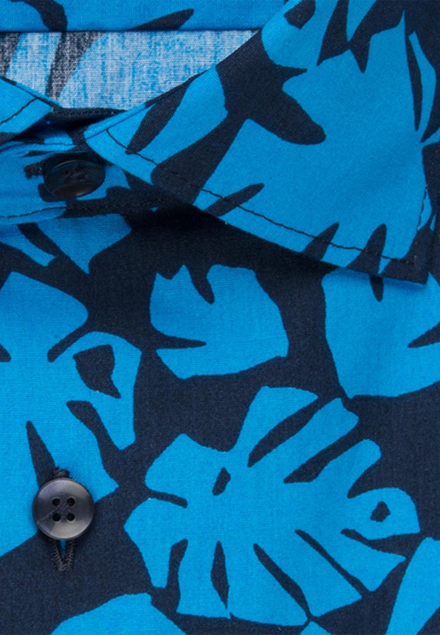 Bügelleichtes Popeline Business Hemd in Shaped mit Kentkragen in Türkis/Petrol    Seidensticker Onlineshop