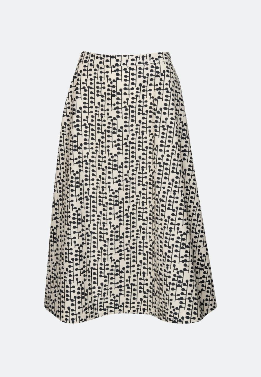 Popeline Midi Skirt made of 100% Cotton in Grey |  Seidensticker Onlineshop