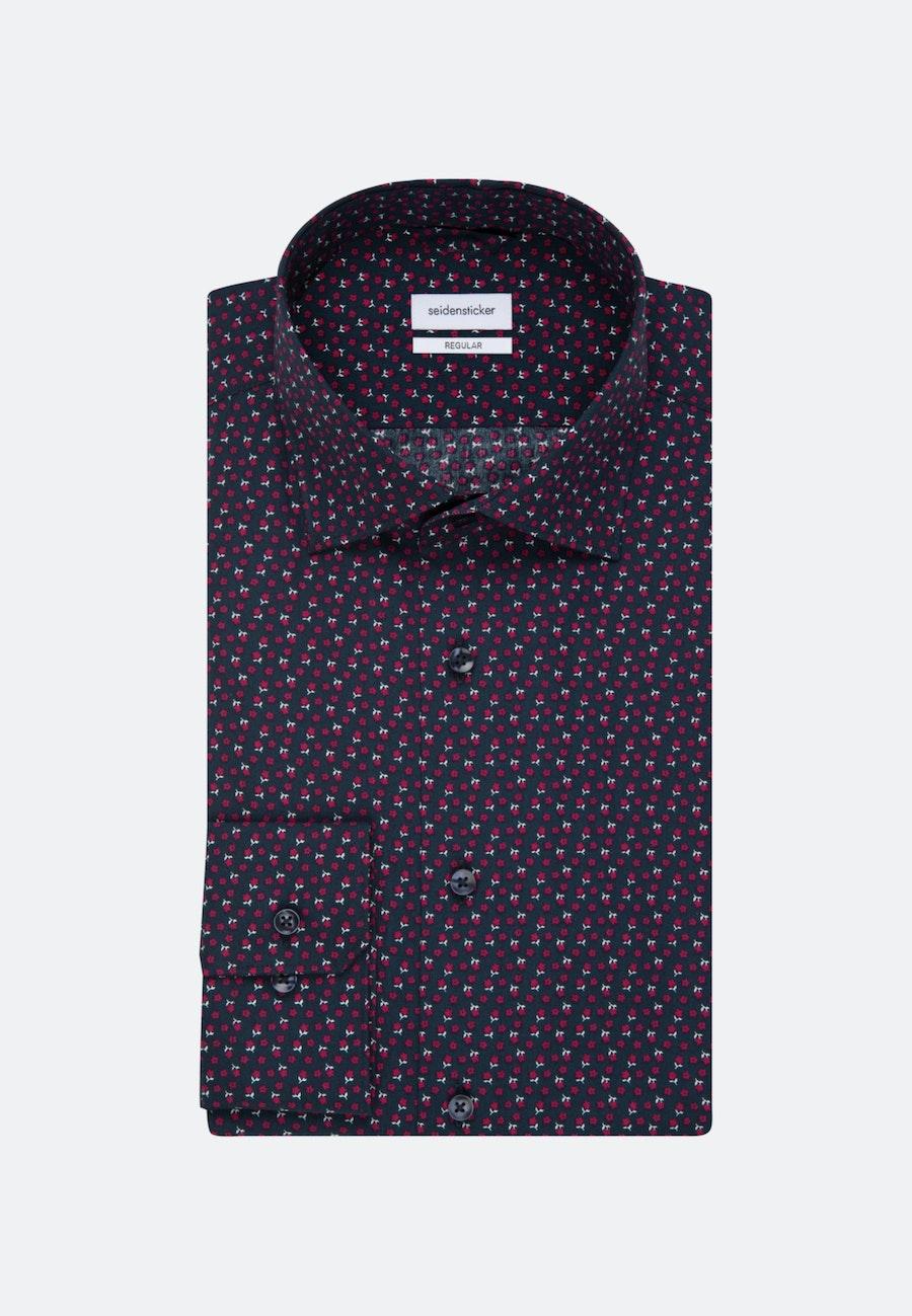Bügelleichtes Popeline Business Hemd in Regular mit Kentkragen in Rot |  Seidensticker Onlineshop