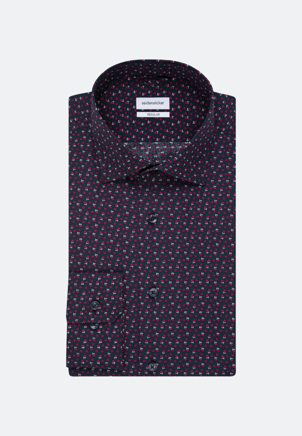 Popeline Business Hemd in Regular mit Kentkragen in Rot |  Seidensticker Onlineshop