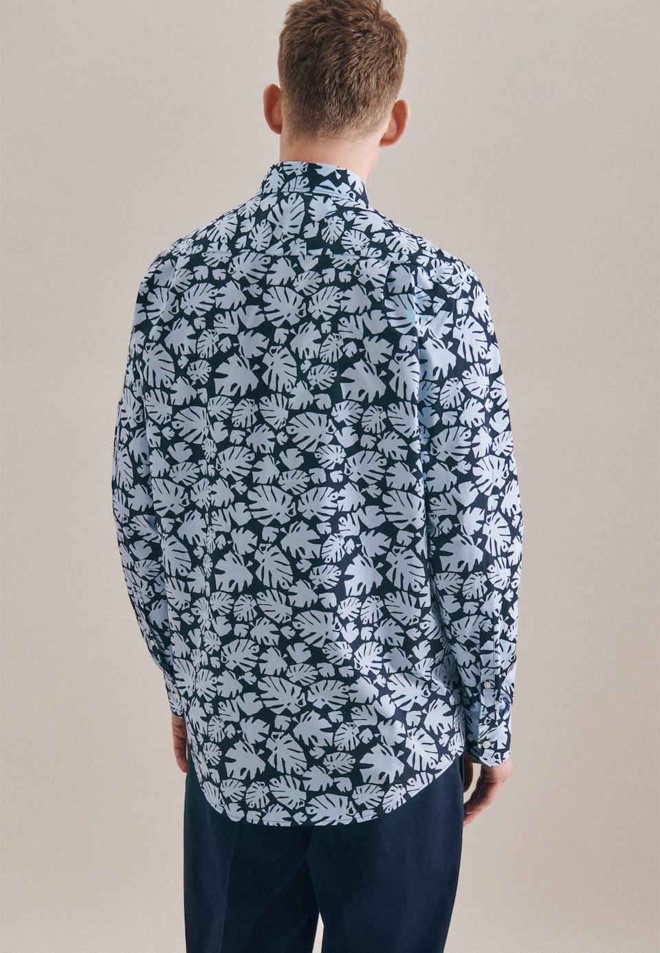 Bügelleichtes Popeline Business Hemd in Regular mit Kentkragen in Hellblau    Seidensticker Onlineshop