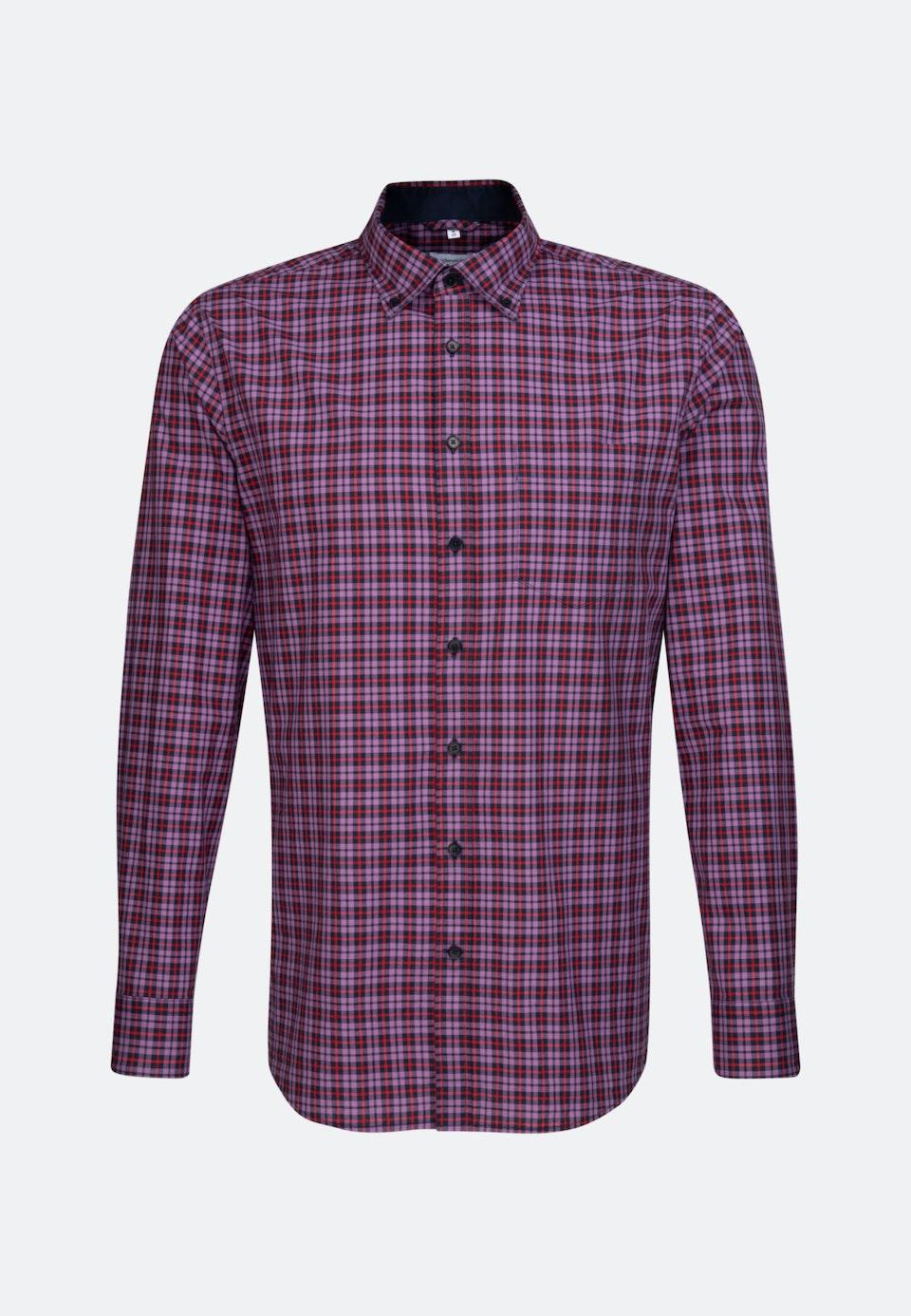Poplin Business Shirt in Regular with Button-Down-Collar in Purple |  Seidensticker Onlineshop