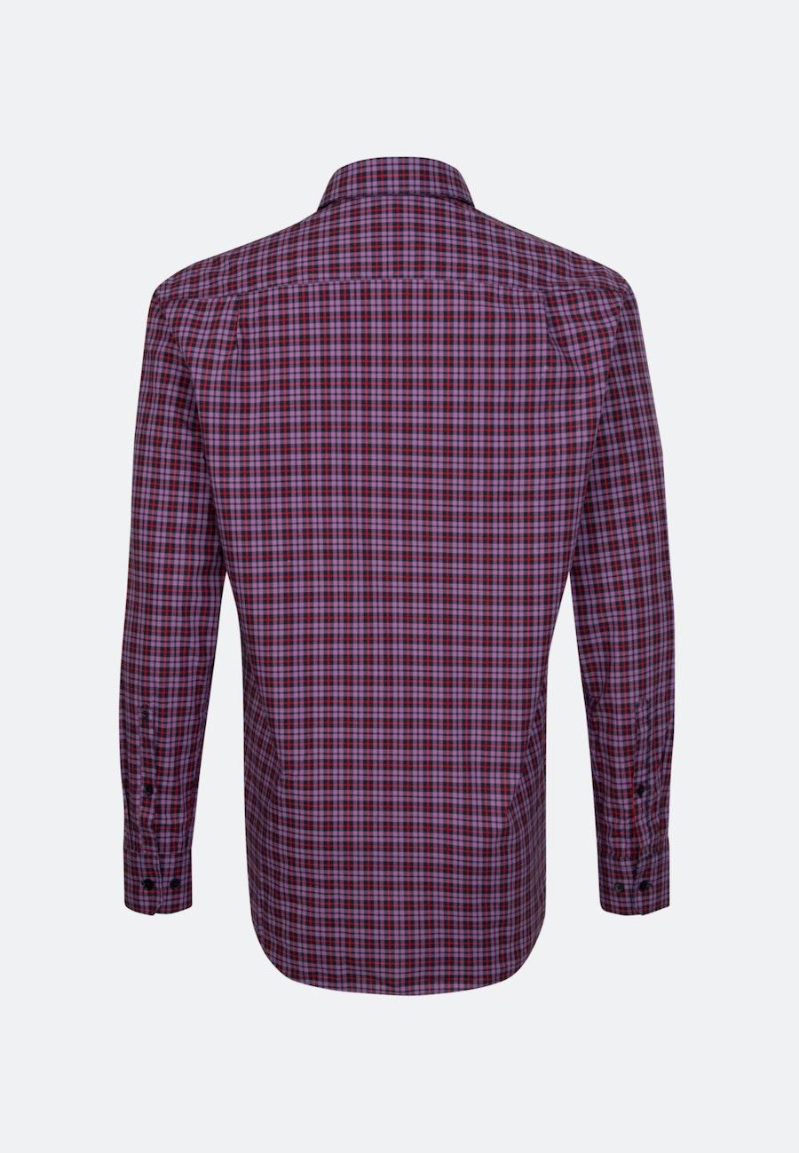 Bügelleichtes Popeline Business Hemd in Regular mit Button-Down-Kragen in Lila |  Seidensticker Onlineshop