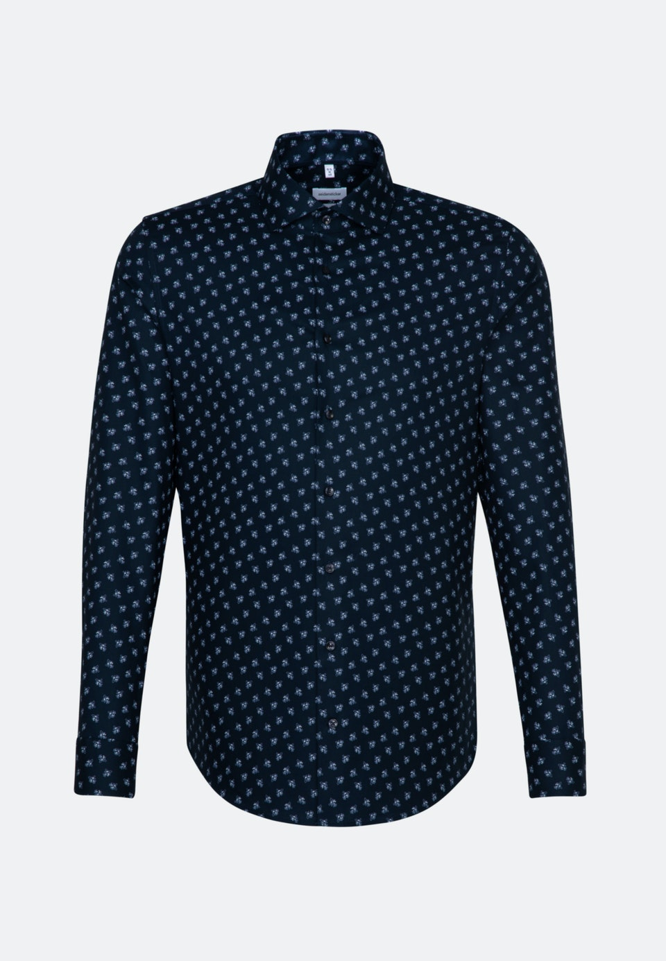 Easy-iron Oxford Business Shirt in Shaped with Kent-Collar and extra long sleeve in Dark blue |  Seidensticker Onlineshop