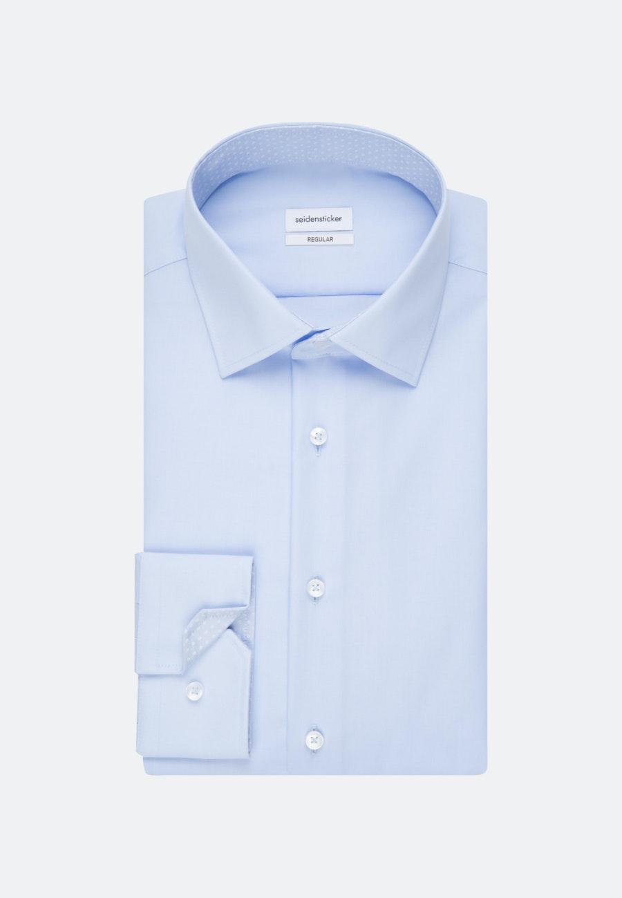Non-iron Popeline Business Shirt in Regular with Kent-Collar in Medium blue |  Seidensticker Onlineshop
