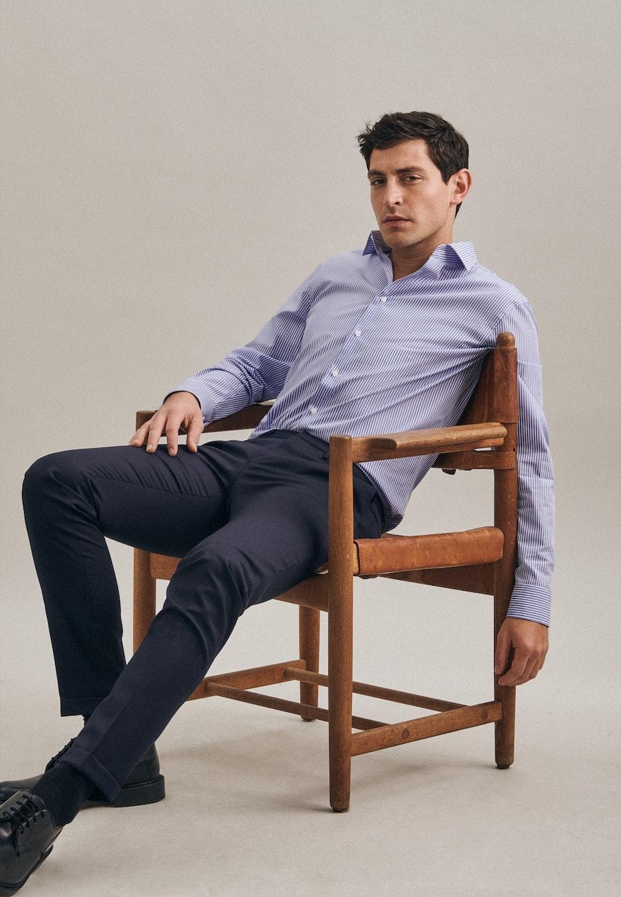Non-iron Popeline Business Shirt in X-Slim with Kent-Collar in Light blue    Seidensticker Onlineshop