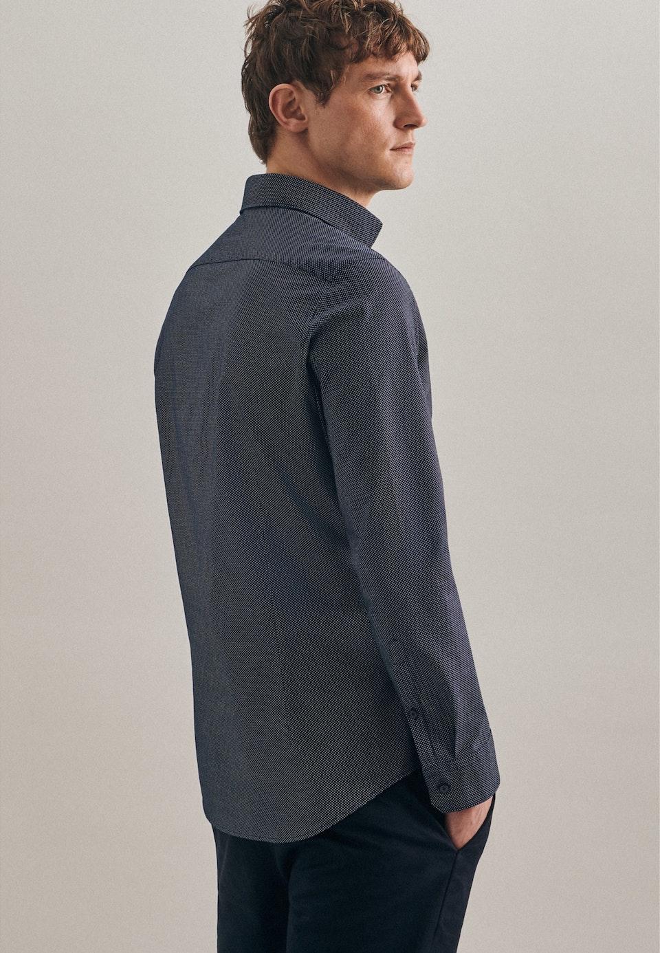 Easy-iron Oxford Business Shirt in Slim with Kent-Collar in Dark blue |  Seidensticker Onlineshop